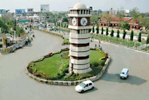 Raipur city more, clock tower