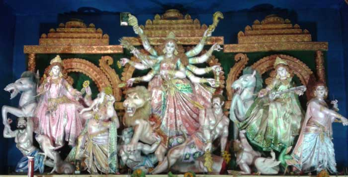 maa durga with saraswati, lakshmi, kartick and ganesh