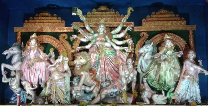 maa durga with saraswati, lakshmi, kartick and ganesh