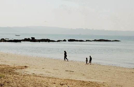 Walk on Bambolim Beach