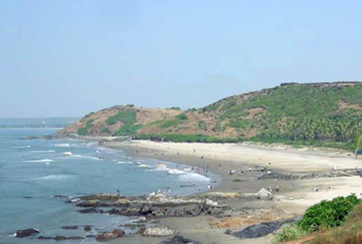 vagator sea beach, goa
