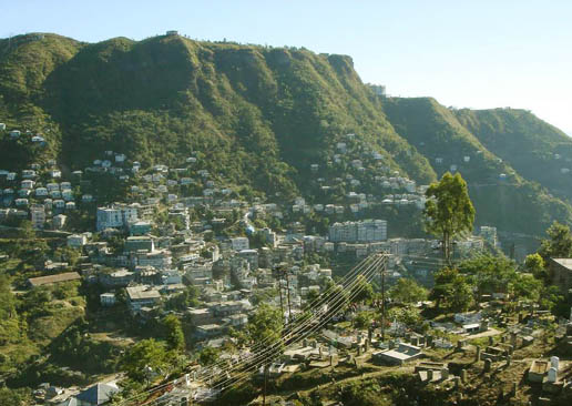 aizwal, the capital city of mizoram