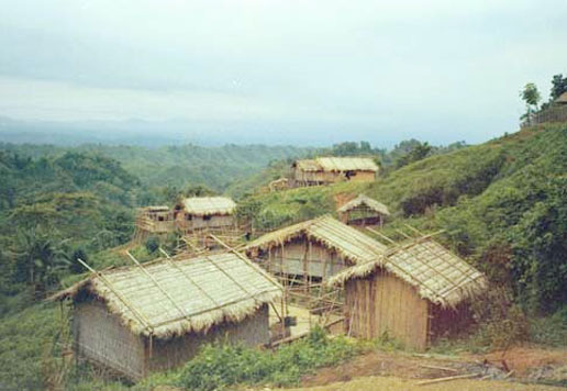 a village on hill, tripura