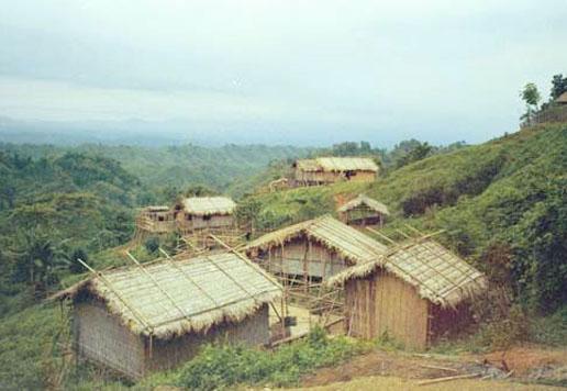 a village on hill, tripura