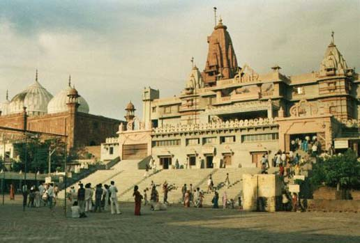 A in the city of Vrindavan