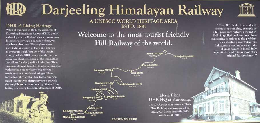 darjeeling toy train route map