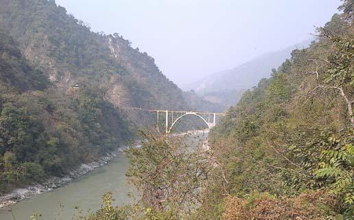 coronation bridge over teesta river