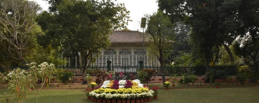 prayer hall upasana griha at shantiniketan