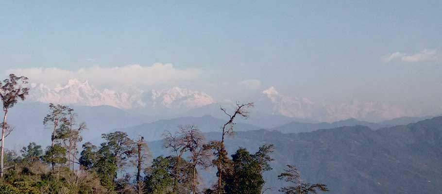 sunrise on kanchenjunga from sillery gaon